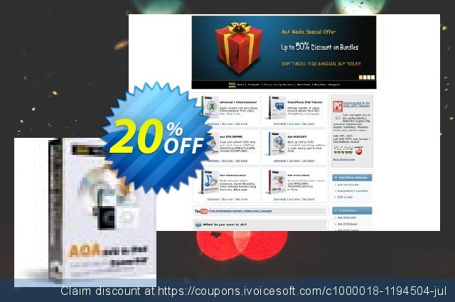 AoA DVD to iPod Converter discount 20% OFF, 2020 University Student offer discounts