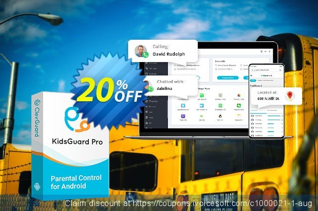 KidsGuard Pro for Android  (1-month plan) discount 20% OFF, 2020 University Student deals discount