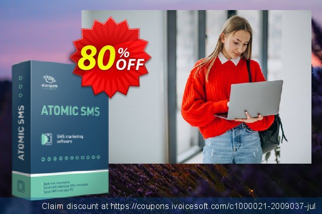 Atomic SMS Sender (100 credits pack) discount 80% OFF, 2020 Back to School coupons promo