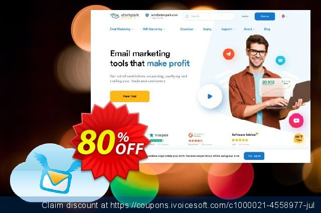 Atomic Email Service Subscription 50,000 discount 80% OFF, 2020 Back to School promo offering sales