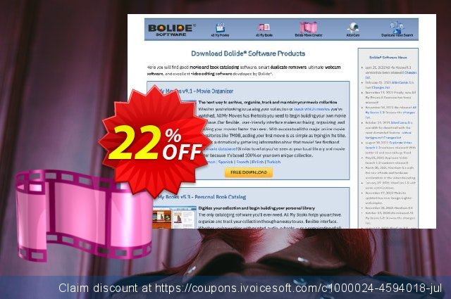 Bolide Movie Creator discount 22% OFF, 2020 Halloween offering sales