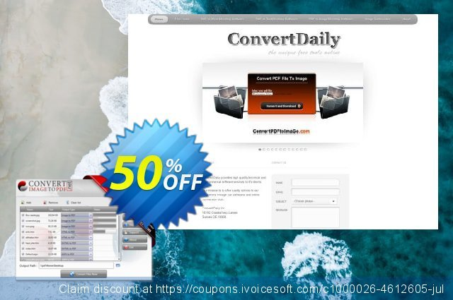 Convert Image to PDF Desktop Software discount 40% OFF, 2019 Back-to-School promotions offering sales