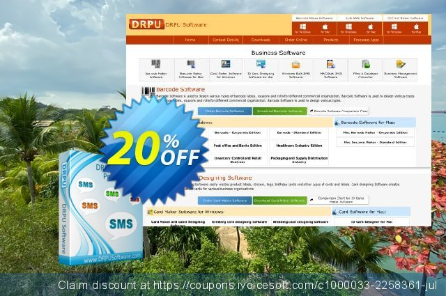 DRPU Bulk SMS Software for Windows based mobile phones discount 20% OFF, 2020 January offering sales