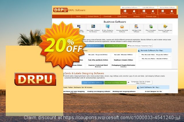 DRPU Card Maker and Label Designing Software discount 20% OFF, 2019 Back-to-School promotions offering sales