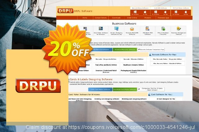 DRPU Greeting Card Maker Software discount 20% OFF, 2019 Exclusive Student deals deals