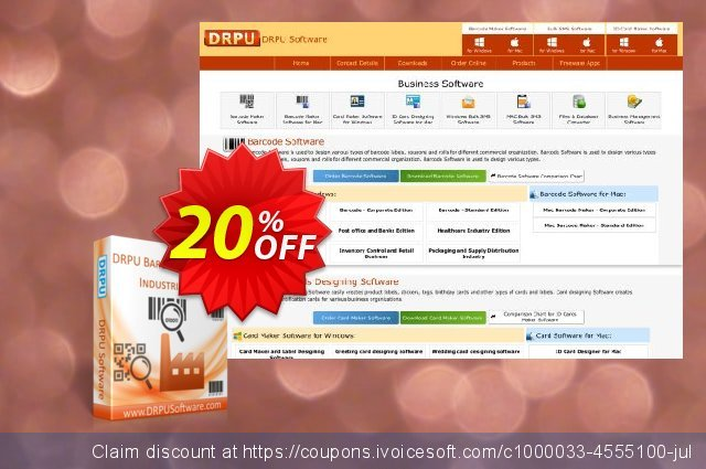 DRPU Industrial Manufacturing and Warehousing Barcode Generator discount 20% OFF, 2020 Summer deals