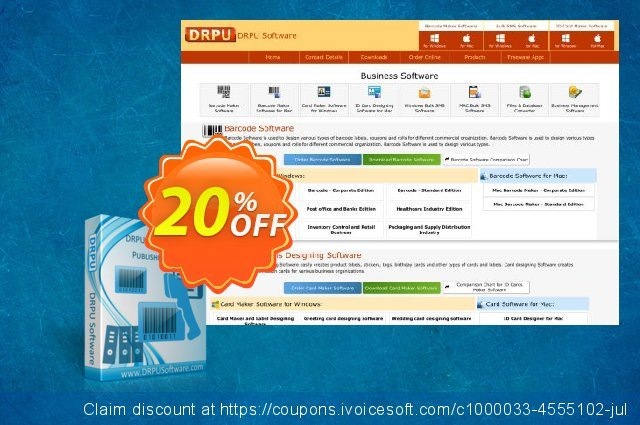 DRPU Publisher and Library Barcode Label Creator Software discount 20% OFF, 2019 Back to School shopping offering deals