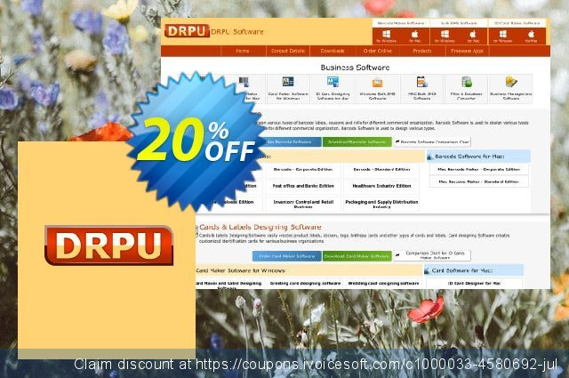 DRPU Bulk SMS Software Professional - unrestricted version discount 20% OFF, 2021 April Fools' Day discounts