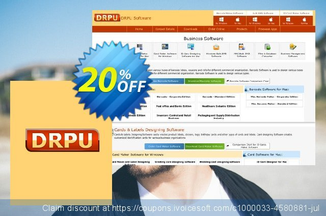 DRPU Bulk SMS Software for BlackBerry Mobile Phone - 100 User Reseller License discount 20% OFF, 2019 College Student deals offer