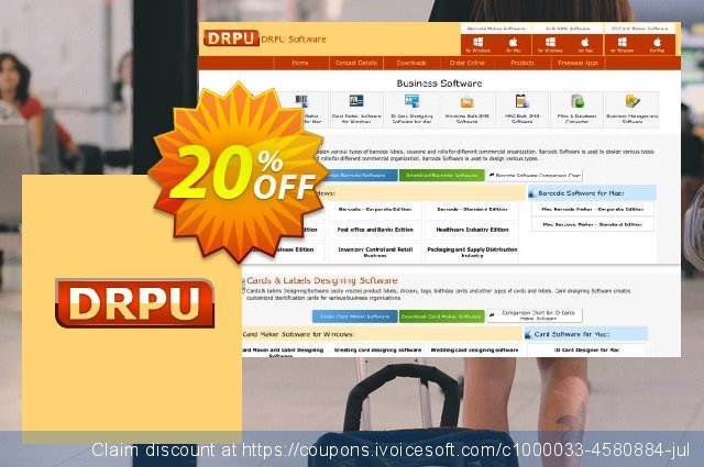 DRPU Mac Bulk SMS Software for GSM Mobile Phone - 25 User License discount 20% OFF, 2020 July 4th discount