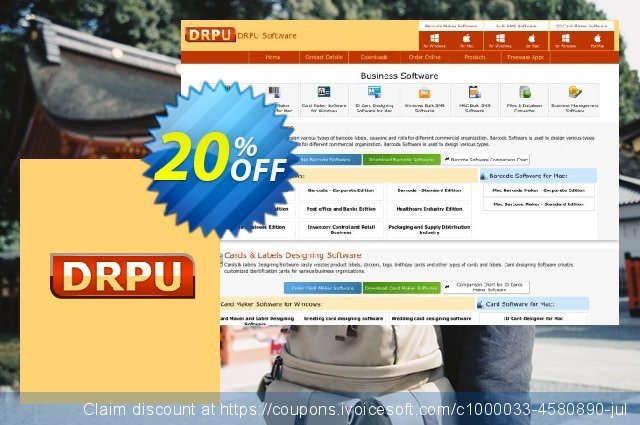 DRPU Mac Bulk SMS Software for GSM Mobile Phone - unrestricted version discount 20% OFF, 2019 Back to School shopping offering sales
