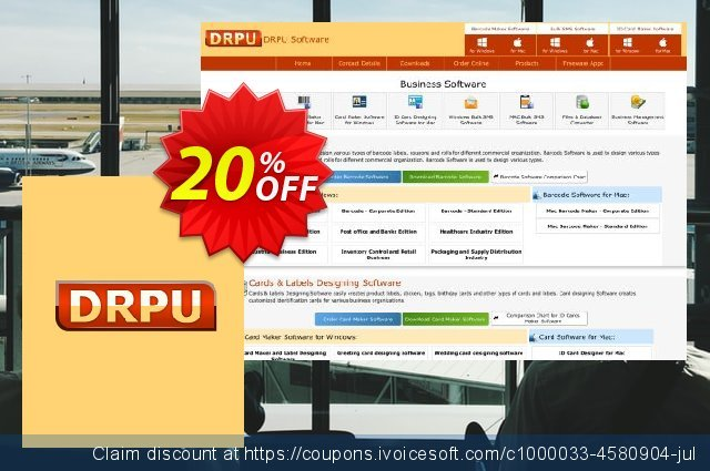 DRPU Mac Bulk SMS Software for Android Mobile Phone - 100 User Reseller License discount 20% OFF, 2019 College Student deals offering deals