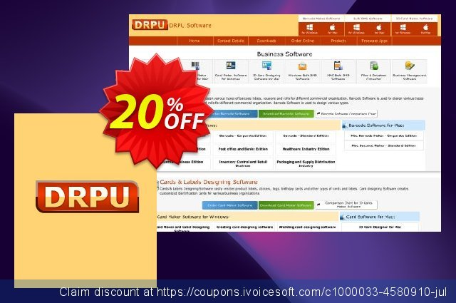 DRPU Mac Bulk SMS Software - Multi USB Modem - 200 User License discount 20% OFF, 2019 Back to School deals offering sales