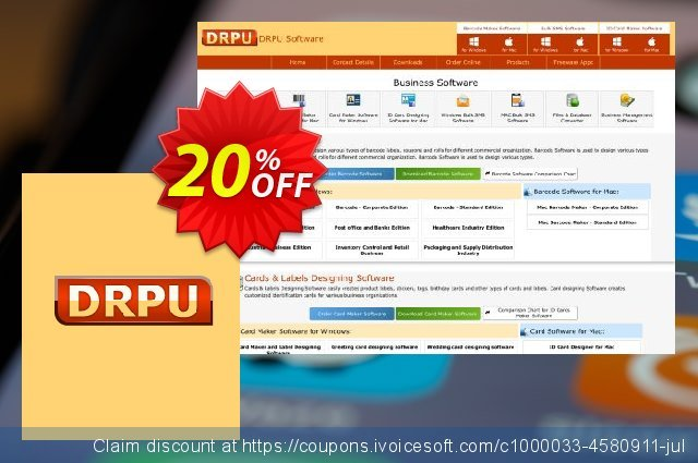 DRPU Mac Bulk SMS Software - Multi USB Modem - 500 User License discount 20% OFF, 2020 Labour Day offering sales
