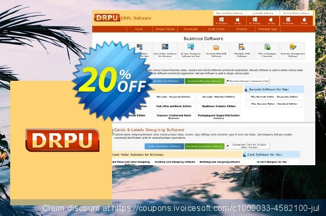 Industrial Manufacturing and Warehousing Barcode Generator - 5 PC License discount 20% OFF, 2021 April Fools' Day sales
