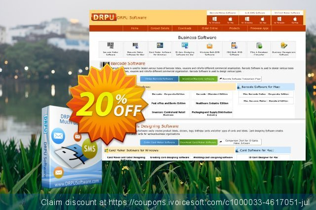 DRPU Mac Bulk SMS Software - Multi Device Edition discount 20% OFF, 2019 Back to School deals offering sales