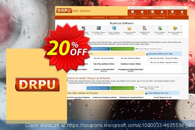 DRPU Barcode Maker software - Corporate Edition - 5 PC License 了不起的 销售折让 软件截图