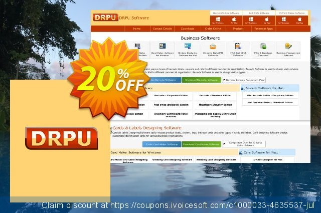 DRPU Barcode Maker software - Corporate Edition - 10 PC License 令人敬畏的 产品销售 软件截图