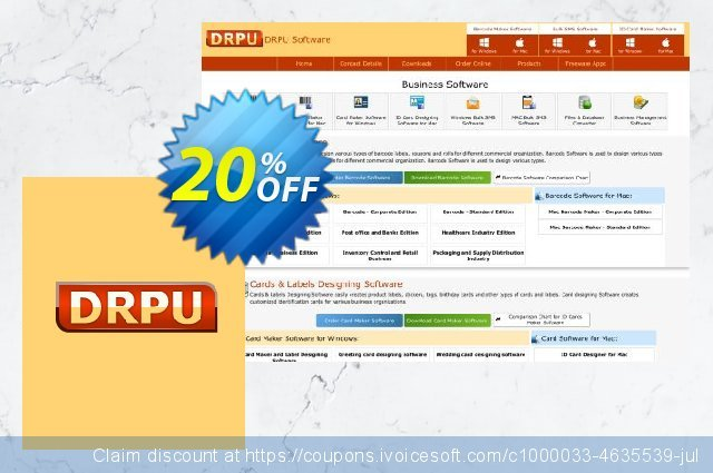 DRPU Barcode Maker software - Corporate Edition - 10 PC License 令人敬畏的 折扣 软件截图