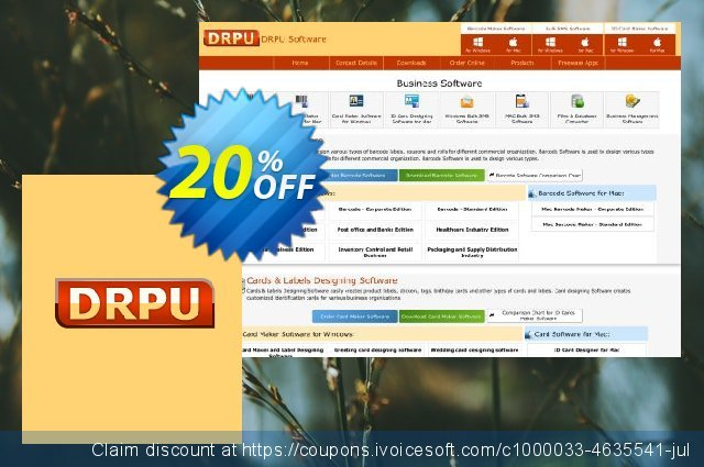 DRPU Barcode Maker software - Corporate Edition - 20 PC License discount 20% OFF, 2020 Labour Day offering sales