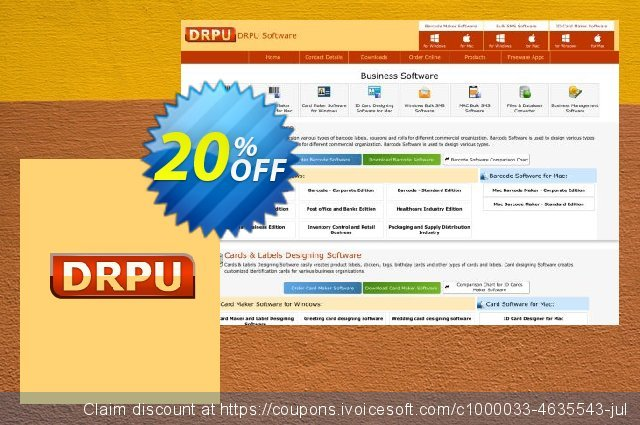 DRPU Barcode Maker software - Corporate Edition - 25 PC License 最佳的 优惠 软件截图