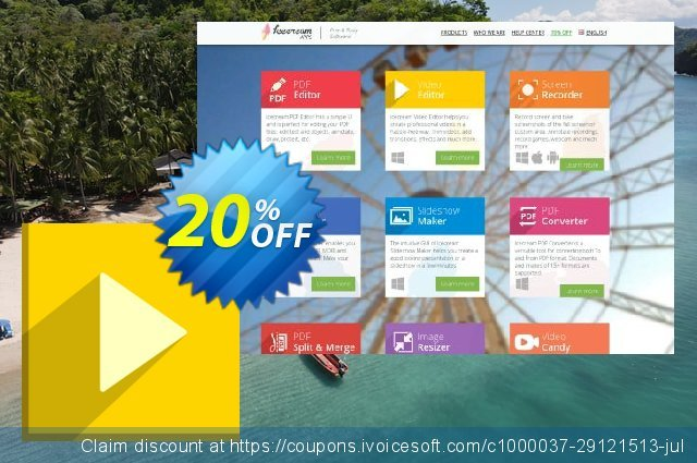 Icecream Video Editor PRO discount 20% OFF, 2020 Back to School event offering sales