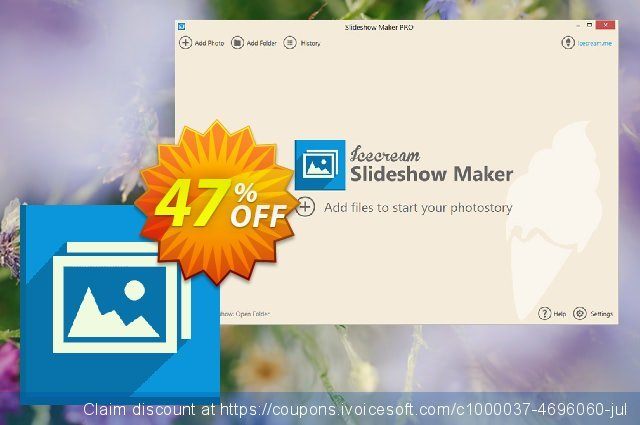 Get 20% OFF Icecream Slideshow Maker PRO offering sales