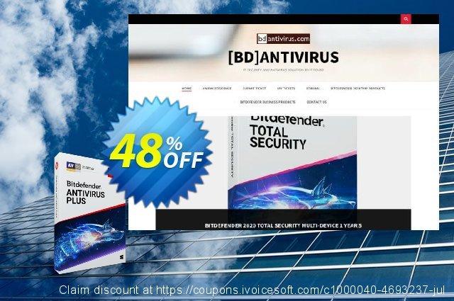 Bitdefender Antivirus Plus 2020 驚くばかり クーポン スクリーンショット