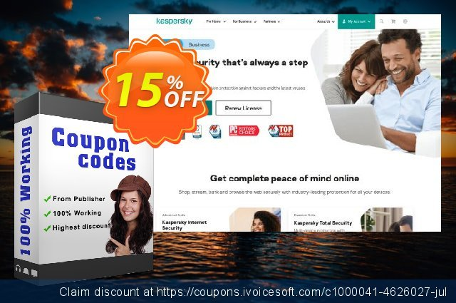 Kaspersky Anti-Virus discount 10% OFF, 2020 4th of July promo