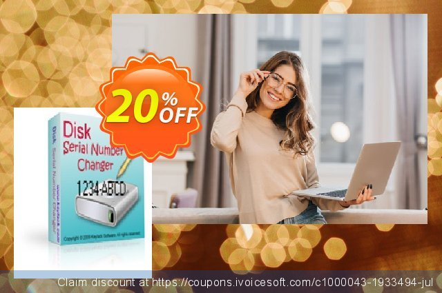 [20% OFF] Disk Serial Number Changer Coupon code on July 4th offering  sales, July 2019