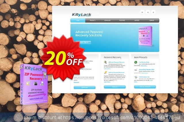 [20% OFF] KRyLack ZIP Password Recovery Coupon code on Father's Day  offering sales, June 2019