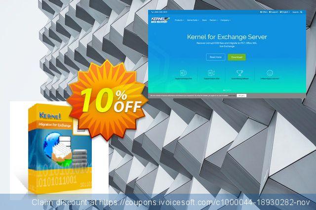Kernel Migrator for Exchange: ( 1 - 50 Mailboxes ) 令人难以置信的 产品交易 软件截图