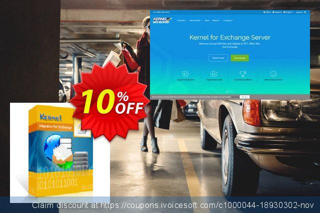 Kernel Migrator for Exchange: ( 1 - 50 Mailboxes )  + unlimited Public Folders 壮丽的 交易 软件截图