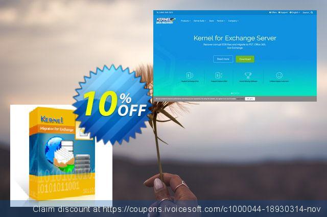 Kernel Migrator for Exchange: ( 51 - 100 Mailboxes ) + unlimited Public Folders 令人惊讶的 产品销售 软件截图