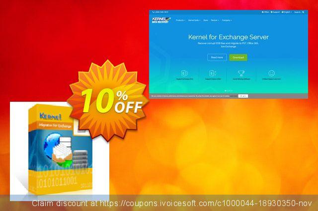Kernel Migrator for Exchange: ( 251 - 500 Mailboxes ) + unlimited Public Folders 令人敬畏的 产品销售 软件截图