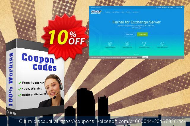 Kernel Migrator for Exchange ( 850 Mailboxes ) 惊人的 优惠券 软件截图