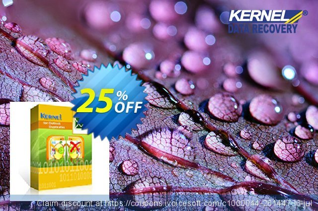 Kernel for Outlook Duplicates - Home User Lifetime License discount 25% OFF, 2020 Halloween sales