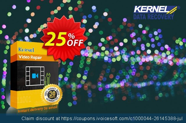 Kernel Video Repair - Corporate Lifetime License discount 25% OFF, 2021 Women Day offering deals