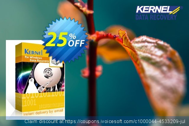 Kernel for Windows Data Recovery discount 25% OFF, 2021 Easter day offering sales