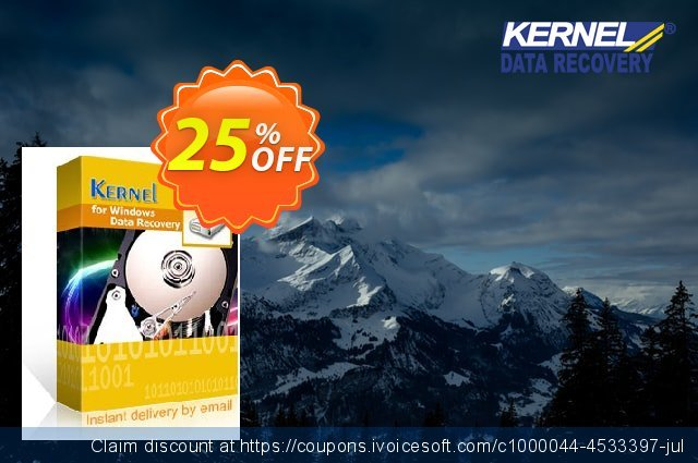 Kernel for Windows Data Recovery (Technician License) 优秀的 产品折扣 软件截图