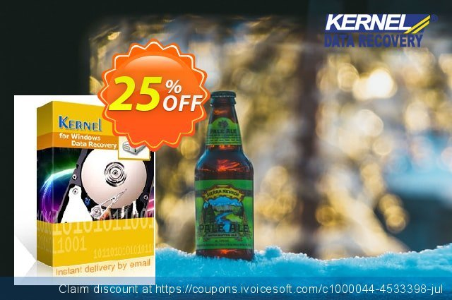 Kernel for Windows Data Recovery (Corporate License) discount 25% OFF, 2020 Summer offering sales
