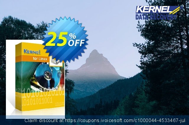 Kernel for Linux Data Recovery (Technician) discount 25% OFF, 2020 Halloween promo sales
