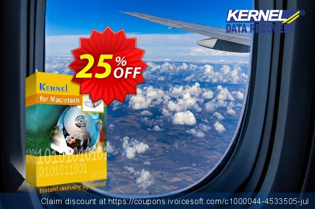 Kernel for Mac Data Recovery (Corporate License) discount 25% OFF, 2021 New Year's Weekend discounts