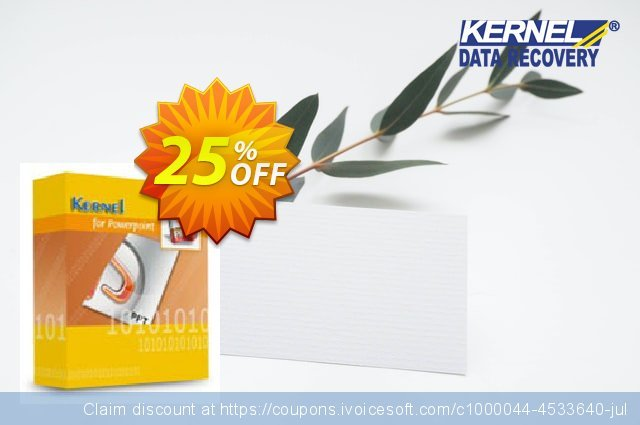 Kernel for PowerPoint discount 25% OFF, 2021 New Year sales