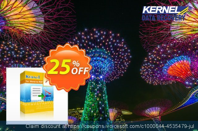 Kernel for Word to PDF - Site License discount 25% OFF, 2021 New Year's Weekend offering sales