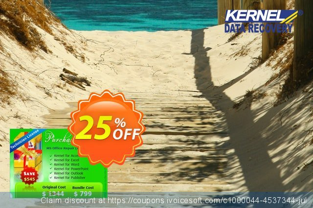 Kernel MS Office File Recovery Professional (Technician License) discount 25% OFF, 2020 Halloween promo
