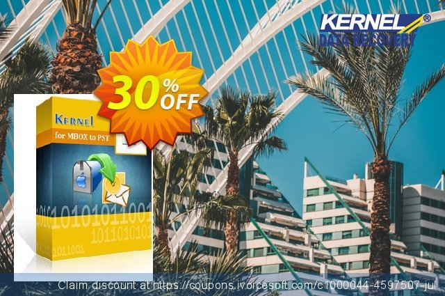 Kernel for MBOX to PST  - Corporate License discount 30% OFF, 2021 Spring promo