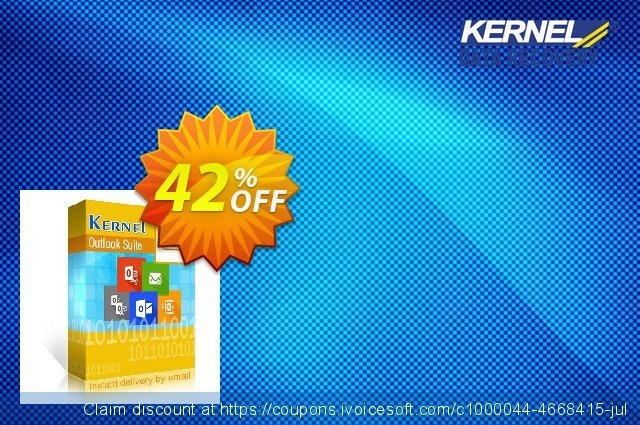 Kernel Outlook Suite discount 42% OFF, 2020 Labour Day offering sales