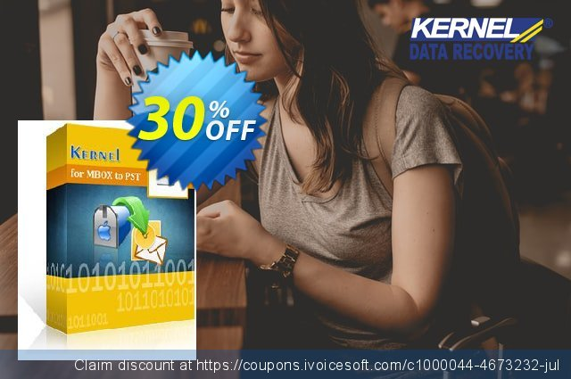 Kernel for MBOX to PST - Technician License discount 30% OFF, 2021 New Year's Weekend promotions