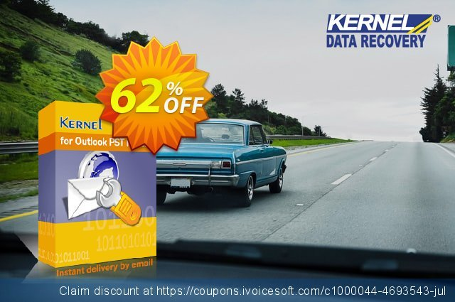 Kernel for Outlook PST Repair (Technician License) discount 41% OFF, 2020 College Student deals offering deals